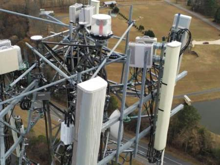 Air Reel Technologies Cell Tower Close up